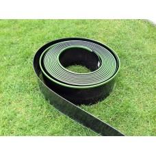 Műanyag ágyásszegély és gyepszegély (ABS) tekercsben díszcsíkkal (dekoratív)