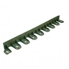 Hajlítható zöld műanyag ágyásszegély 4, 5 cm