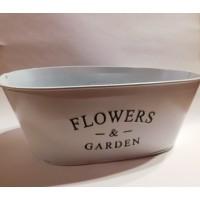 Flowers fém ovális virágtartó